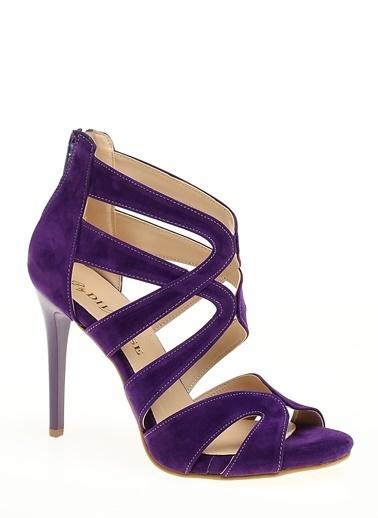 D by Divarese İnce Topuklu Ayakkabı Mor